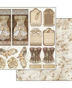 "Paper pad 12""x12""cm - Old lace SBBL32"