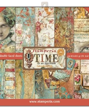 "Paper pad 12""x12""cm - Time is an illusion SBBL33"