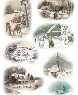Decoupage Rice Paper A4 - Snowy landscapes ITD-R993