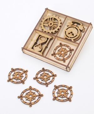 Laser cut wooden shapes  MDF set 20pcs - Watches-  IDEA1643