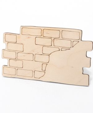 Wooden figurine - Brick wall  IDEA1630