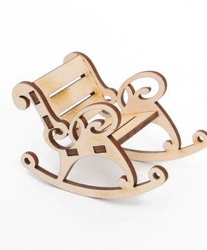 Wooden figurine - Rocking chair  IDEA1635