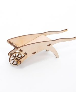 Wooden figurine - Wheelbarrow  IDEA1638