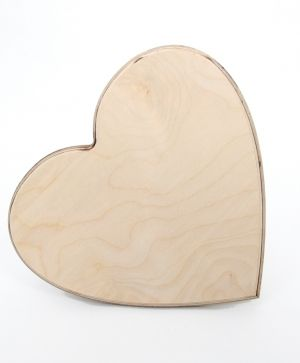 Wooden signboard heart shape 24,5х22,5cm - IDEA1628