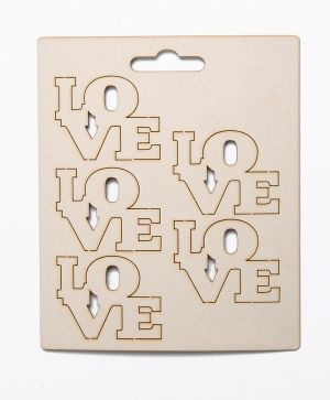 Chipboard - LOVE 3 IDEA0703