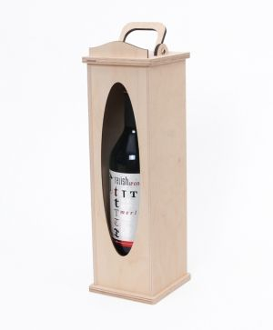 Wooden box for wine bottle - oval shape IDEA1655-2