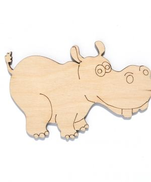 Wooden figurine - Hippo IDEA1440