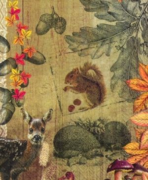 Decoupage napkins 33x33cm 20pcs - AUTUMN COLLAGE L718600