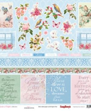 "Paper pad 12""*12"" 16 sheets - Garden of Delights SCB220610700BX"
