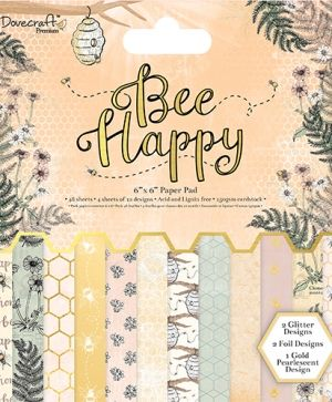 "Paper pad 6""x6"" - Bee Happy DCPAP072"