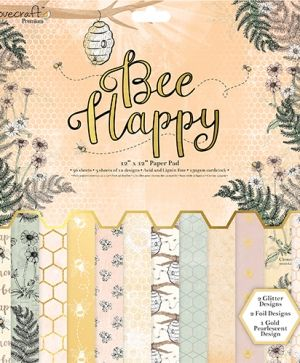 "Paper pad 12""x12"" - Bee Happy DCPAP070"