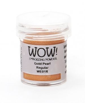 Embossing powder 15ml - Gold Pearl Regular WE01R