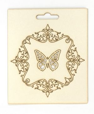Chipboard - Ornaments with butterfly IDEA0974