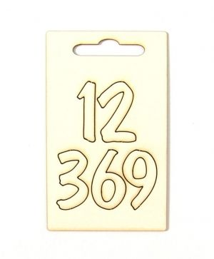 Chipboard - Arabic clock numerals IDEA1116