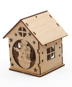 Wooden Christmas house - Snowman IDEA0369