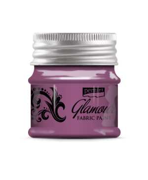 Glamour metallic fabric paint 50ml - silvery rose P33862