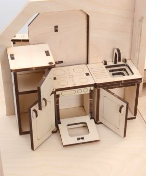Mini wooden furniture - kitchen IDEA1677