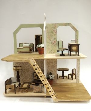Mini wooden furniture - bathroom IDEA1678