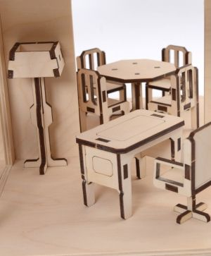 Mini wooden furniture - office room IDEA1679