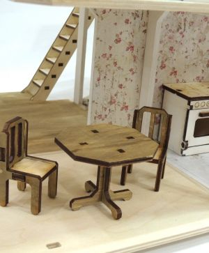 Mini wooden furniture - dining room IDEA1680