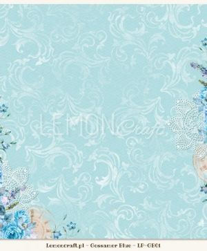 "Double-sided Paper 12""x12"" - Gossamer Blue 02 LP-GB02"