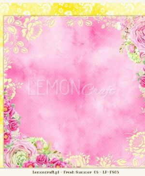 "Double-sided Paper 12""x12"" - Fresh Summer 06 LP-FS06"