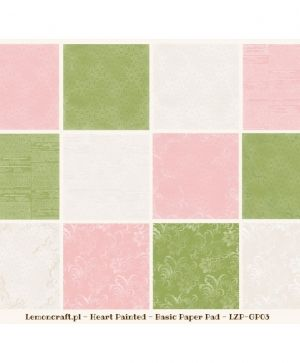 "Paper pad 12""*12"" 12 sheets - House Of Roses LZP-HOR03"
