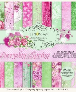 "Paper pad 6""*6"" 36 sheets - Everyday Spring LZP-ES02"