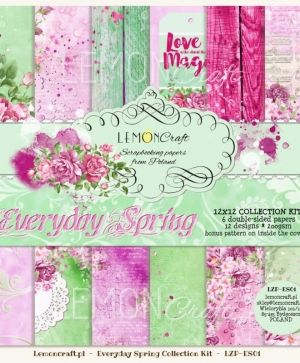 "Paper pad 12""*12"" 6 sheets - Everyday Spring LZP-ES01"