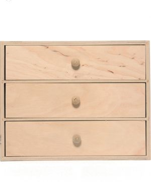 Wooden box with 3 drawers 32х20,3х26cm - IDEA1721