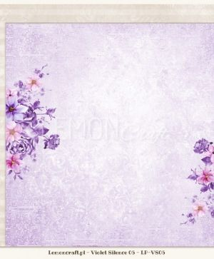 "Double-sided Paper 12""x12"" -  Violet Silence 06 LP-VS06"