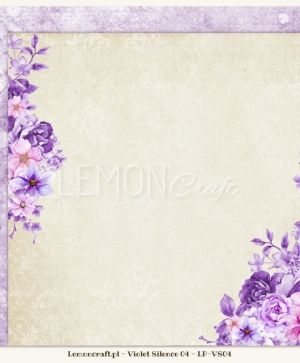 "Double-sided Paper 12""x12"" -  Violet Silence 05 LP-VS05"