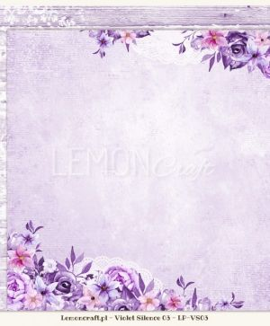 "Double-sided Paper 12""x12"" -  Violet Silence 04 LP-VS04"