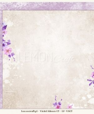 "Double-sided Paper 12""x12"" -  Violet Silence 03 LP-VS03"