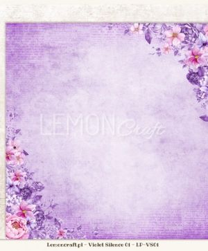 "Double-sided Paper 12""x12"" -  Violet Silence 02 LP-VS02"