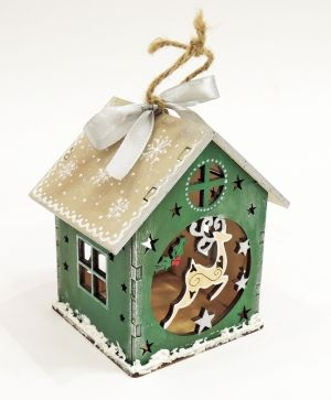 Wooden Christmas house - Deer IDEA0368