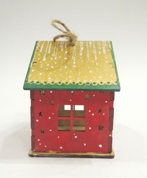 Wooden Christmas house - Christmas tree IDEA0367