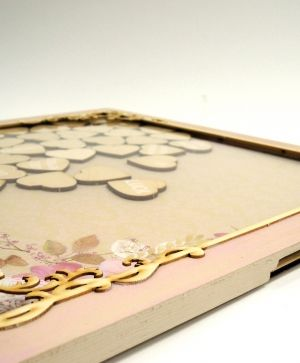 Wooden frame for wedding wishes 32x32cm - IDEA1530