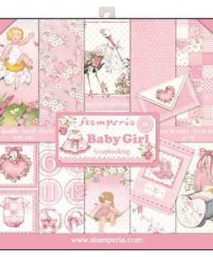 "Paper pad 12""x12""cm - Baby Girl SBBL41"