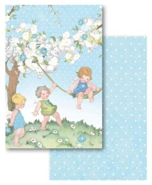 Set of cards 11,4x16,5cm, 24pcs - Baby Boy SBBPC04
