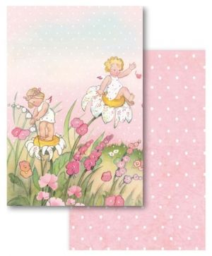 Set of cards 11,4x16,5cm, 24pcs - Baby Girl SBBPC05