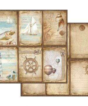 "Double face scrap paper 12""x12"" - Sea land cards SBB541"