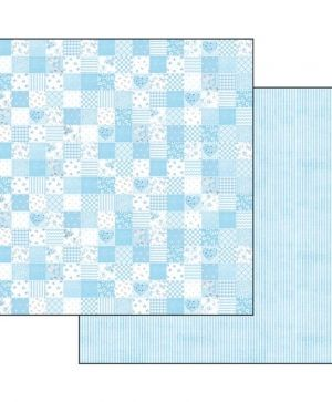 "Double face scrap paper 12""x12"" - Baby boy patchwork SBB544"