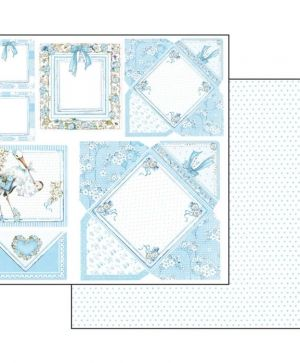 "Double face scrap paper 12""x12"" - Baby boy cards SBB545"
