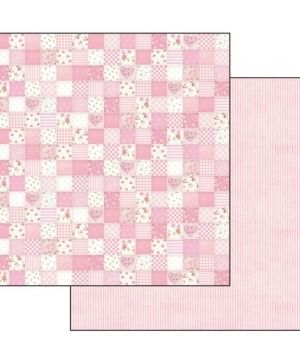 "Double face scrap paper 12""x12"" - Baby girl patchwork SBB548"