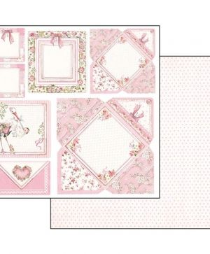 "Double face scrap paper 12""x12"" - Baby girl cards SBB550"