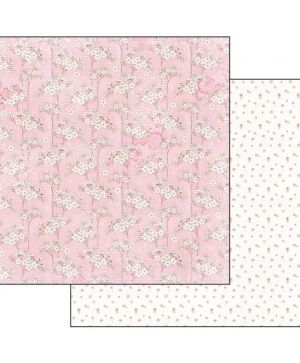 "Double face scrap paper 12""x12"" - Baby girl texture SBB551"