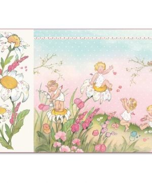 Decoupage rice paper 33x48cm - Baby girl DFS400