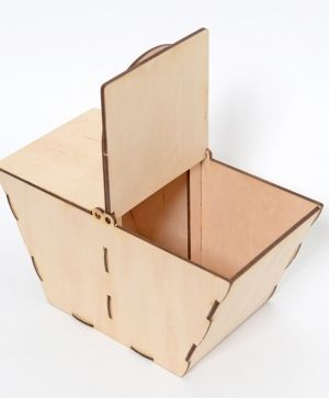 Wooden basket 20x10x20cm - IDEA1263