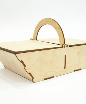 Wooden basket 24х12х13cm - IDEA1262